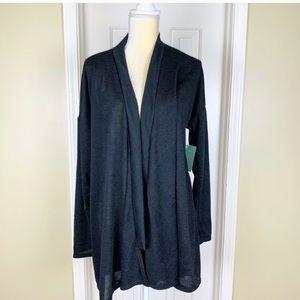 Susina Black Light Weight Open Cardigan Size 1X